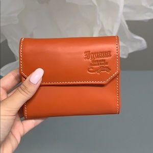 NWOT Small Orange Leather Wallet (Unisex)